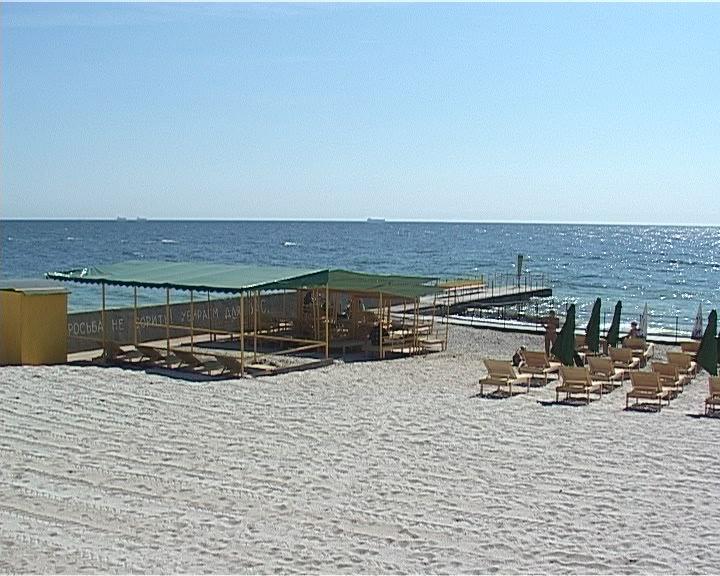 Открыл сезон пляж для инвалидов на 11 ст. Большого Фонтана