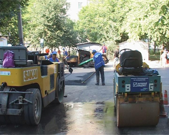 В городе продолжается ремонт межквартальных проездов