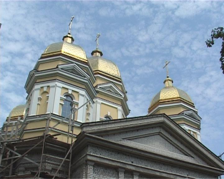 Продолжается строительство Свято-Алексеевского православного храма