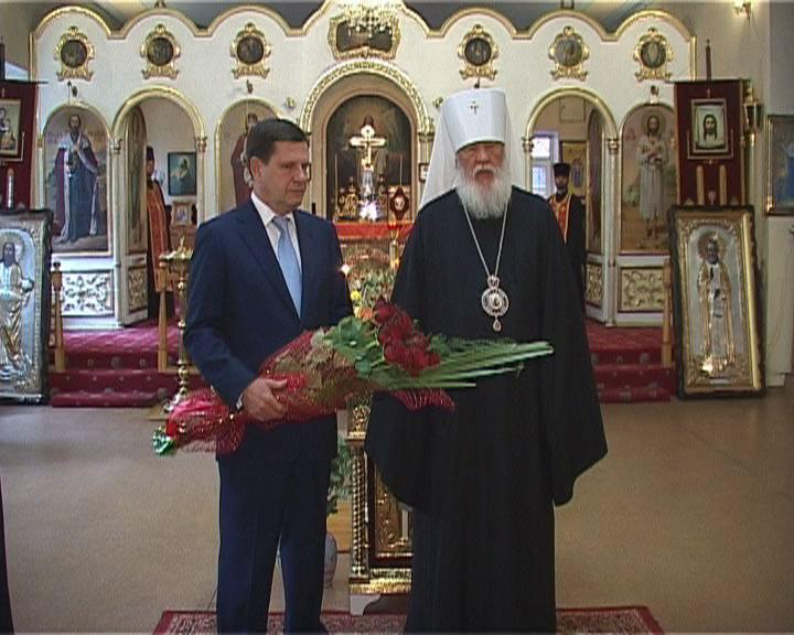 Митрополит и городской голова в Свято-Алексеевском храме Одессы