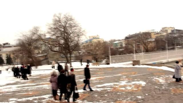 Odessa in a winter's day