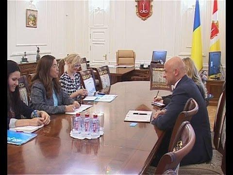 Встреча одесского мэра с главой ЮНИСЕФ в Украине