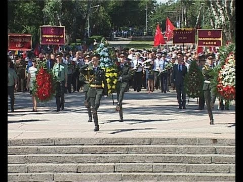 Одесситы возложили цветы в память о героях ВОВ