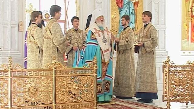 Праздничный молебен в Спасо-Преображенском кафедральном соборе