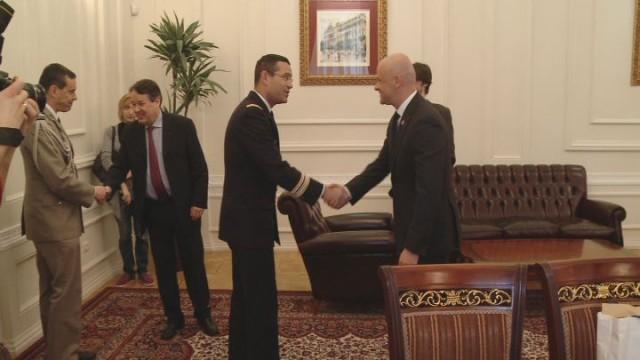 Встреча мэра с французскими военными
