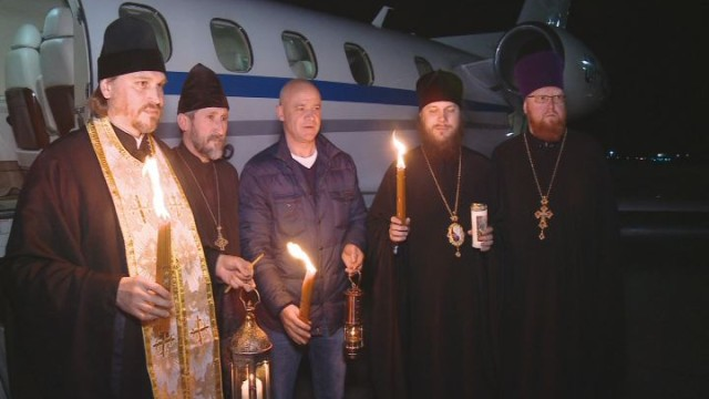 Благодатный огонь на Одесской земле