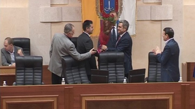 Первая сессия Одесского облсовета VII созыва