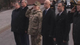 На Аллее Славы взвился украинский флаг