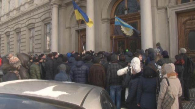 Акция протеста. Шахтёры против обещаний правительства