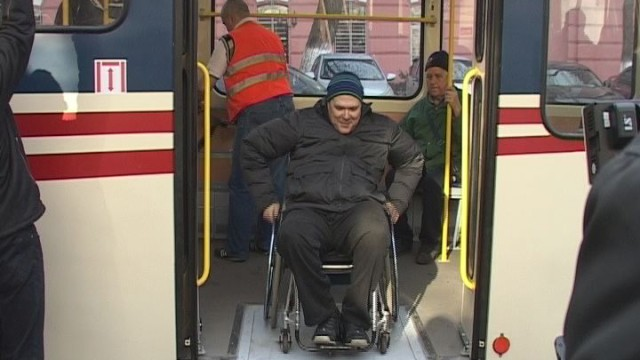 Низкополый трамвай в Одессе