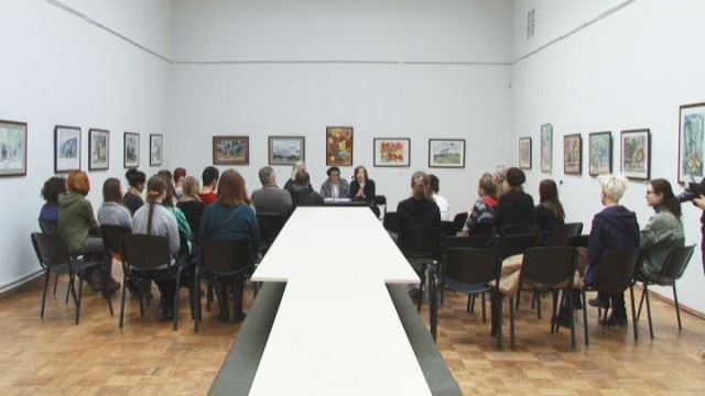 Встреча с мастерами  — Анатолием и Галиной Кравченко