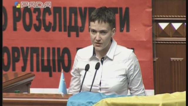 Надежда Савченко: первый день в Раде