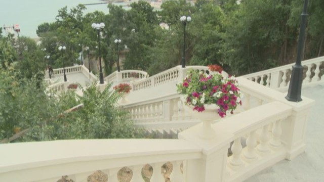 В Одессе появилась новая лестница, ведущая на главную аллею Аркадии