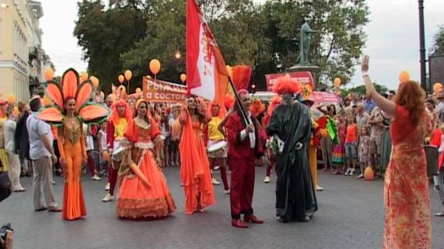 Студия Ларисы Румянцевой на фестивале «Рыжий город»