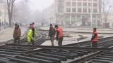 Испытание трамвайных путей на Тираспольской площади