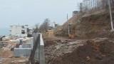 Строительные работы на Аркадиевском склоне