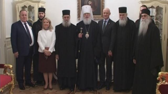 Митрополит Агафангел встретился с монахами со святой горы Афон