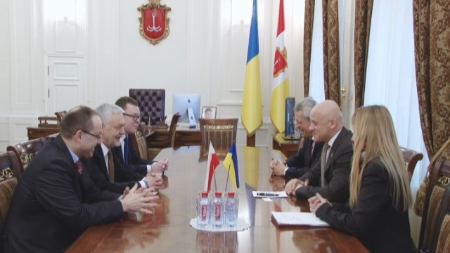 Встреча мэра Одессы и Посла Польши в Украине