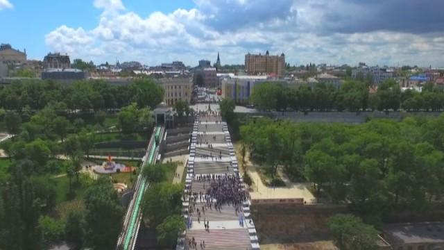 Президент посетил Потемкинскую лестницу