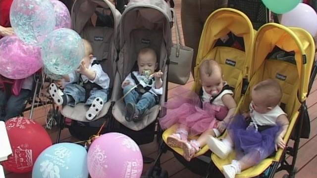 Одесские пятерняшки отпраздновали первый День рождения
