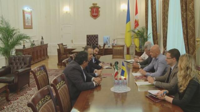 Мэр Одессы встретился с Послом Италии