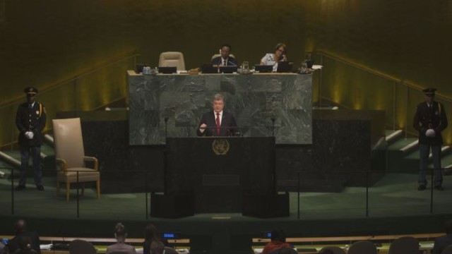 Порошенко произнес две речи в ООН