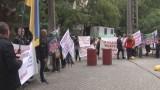Пайщики Жаботинского провели мирный митинг под посольством Литвы