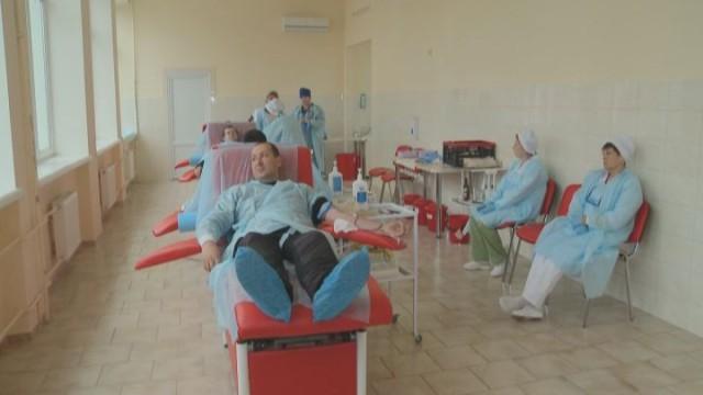 50 полицейских стали донорами крови