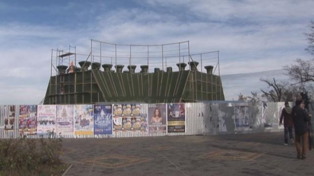 Одесский мэр проверил Воронцовскую колоннаду