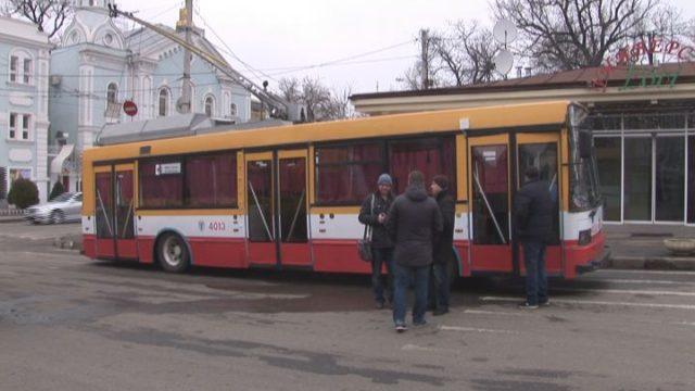 В Одессе прошел тест-драйв троллейбусного оповещателя