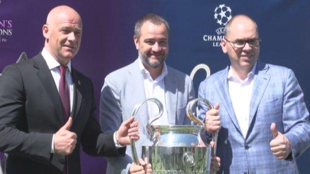 Кубок Лиги Чемпионов: презентация футбольных трофеев в Одесса