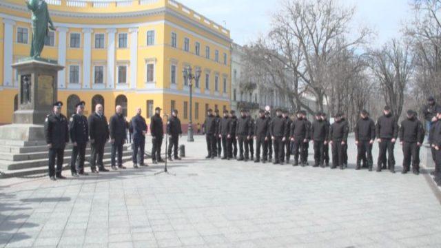 В Одессе представили новое подразделение Департамента полиции обороны