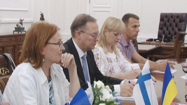 Посол Финляндии прибыл в мэрию