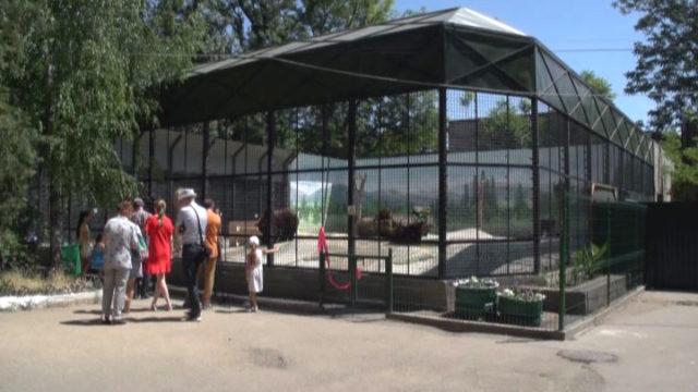 В Одесском зоопарке прошло открытие нового вольера для медведей