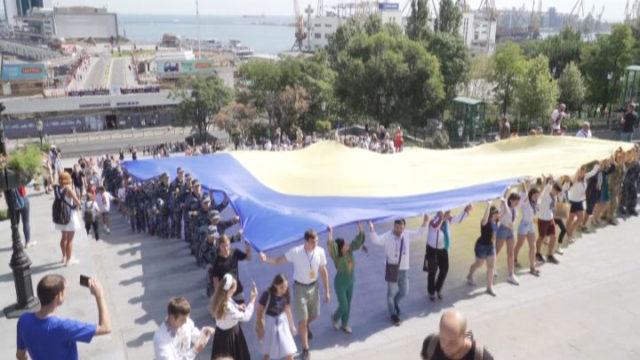 Прапор підняти! 28 метрів над Потьомкінськими сходами