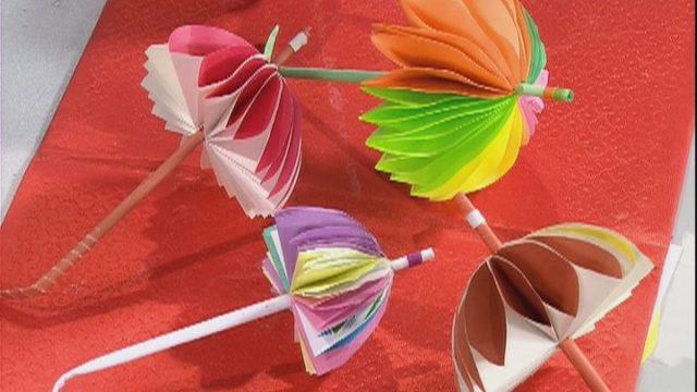 Парасолька (техніка паперова пластика)
