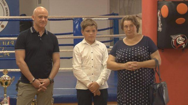 Геннадій Труханов і юний гість