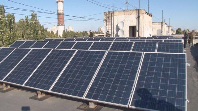Сонячні панелі в місті