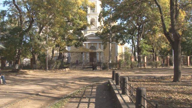Сучасний благоустрій Олексіївського скверу